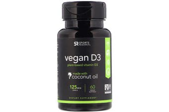Sports Research Vegan D3 - 125 mcg (5,000 IU), 60 Veggie Softgels