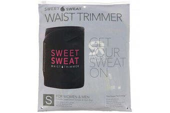 Sweet Sweat Waist Trimmer - Small, Black & Pink