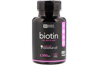 Sports Research Biotin - 2,500mcg, 120 Softgels