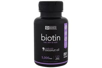 Sports Research Biotin - 5,000mcg, 120 Softgels