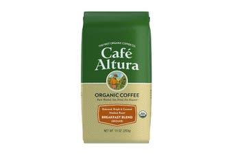 Cafe Altura, Organic Coffee, Breakfast Blend, Medium Roast, Ground, 283 g