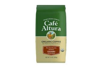 Cafe Altura, Organic Coffee, Colombia, Dark Roast, Whole Bean, 283 g