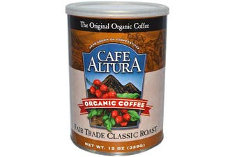 Cafe Altura, Organic Coffee, Fair Trade Classic Roast, 339 g