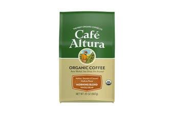Cafe Altura, Organic Coffee, Morning Blend, Medium Roast, Whole Bean, 567 g