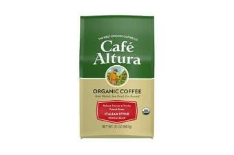 Cafe Altura, Organic Coffee, Italian Style, French Roast, Whole Bean, 567 g
