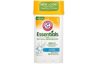 Arm & Hammer Essentials No Aluminium & Paraben Free with Natural Deodorizers Deodorant Clean Juniper Berry 71g
