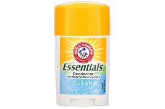 Arm & Hammer Essentials No Aluminium & Paraben Free with Natural Deodorizers Deodorant Clean 28g