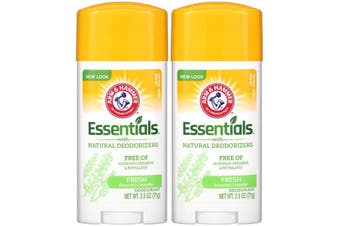 Arm & Hammer TWIN PACK Essentials No Aluminium & Paraben Free with Natural Deodorizers Deodorant Fresh Rosemary Lavender 71g each