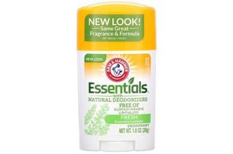 Arm & Hammer Essentials No Aluminium & Paraben Free with Natural Deodorizers Deodorant Fresh Rosemary Lavender 28g