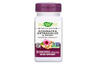 Nature's Way Echinacea Astragalus & Reishi Promotes Immunity - 1,200mg, 100 Vegan Capsules