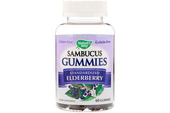 Nature's Way Sambucus Gummies Standardized Elderberry 60 Gummies