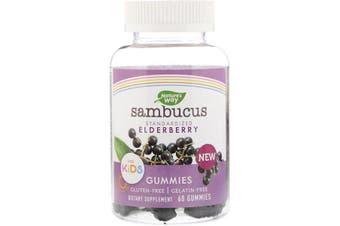 Nature's Way Sambucus Gummies for Kids Standardized Elderberry 60 Gummies