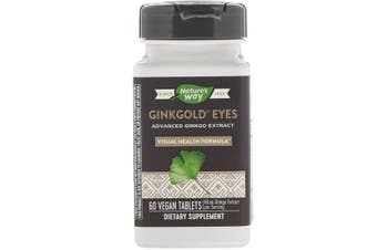Nature's Way Ginkgold Eyes Advanced Premium Ginkgo Extract 60 Vegan Tablets