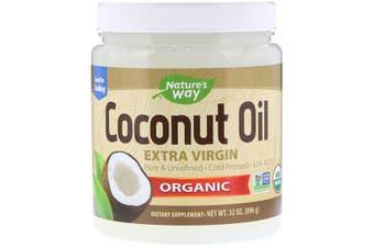 Nature's Way Organic Coconut Oil Extra Virgin Pure Cold Pressed & Unrefined 896g