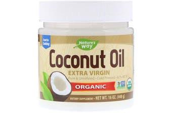 Nature's Way Organic Coconut Oil Extra Virgin Pure Cold Pressed & Unrefined 448g