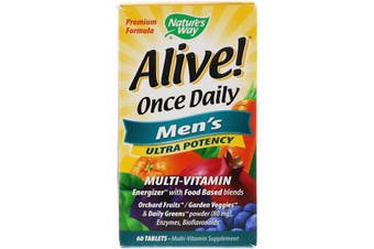 Nature's Way Alive Once Daily Men's Multi-Vitamin Energizer 60 Tablets