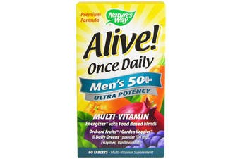 Nature's Way Alive! Once Daily Men's 50+ Multi-Vitamin 60 Tablets
