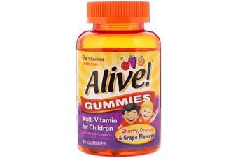 Nature's Way Alive! Gummies Multi-Vitamin for Children Cherry Orange & Grape Flavoured, 60 Gummies