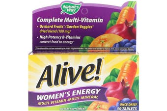 Nature's Way Alive! Women's Energy Multivitamin-Multimineral 50 Tablets