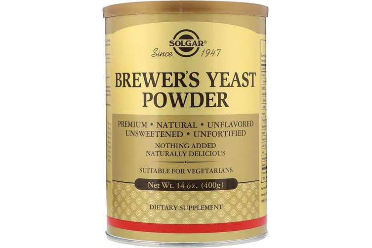 Solgar Brewer's Yeast Powder Premium Natural Unflavored Unsweetened & Unfortified 400g