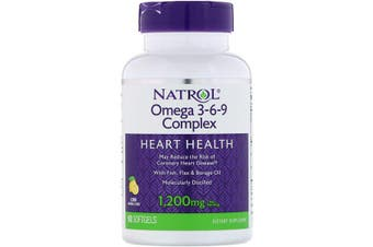 Natrol, Omega 3-6-9 Complex Lemon 1,200mg, 90 Softgels
