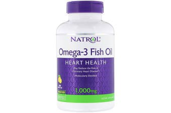Natrol Omega-3 Fish Oil Natural Lemon Flavour - 1,000 mg, 150 Softgels