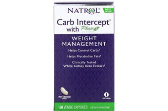 Natrol Carb Intercept with Phase 2 Carb Controller - 1,000 mg, 120 Veggie Caps