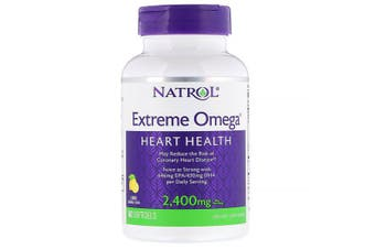 Natrol Extreme Omega - Lemon, 2,400mg, 60 Softgels