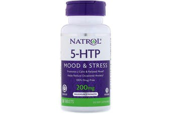 Natrol 5-HTP Time Release Maximum Strength - 200mg, 30 Tablets