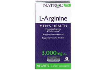 Natrol L-Arginine - 3,000 mg, 90 Tablets