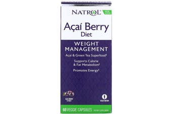 Natrol Acai Berry Diet Acai & Green Tea Superfoods 60 Veggie Capsules
