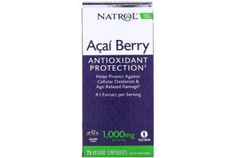 Natrol Acai Berry 1,000 mg, 75 Veggie Caps
