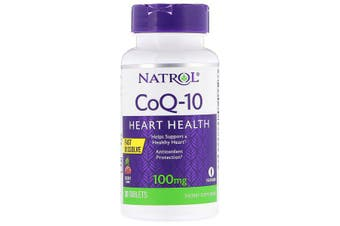 Natrol, CoQ-10 Fast Dissolve Cherry 100mg, 30 Tablets