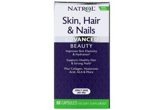 Natrol Skin Hair & Nails Advanced Beauty 60 Capsules