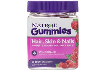 Natrol Gummies Hair Skin & Nails - Raspberry, 90 Count