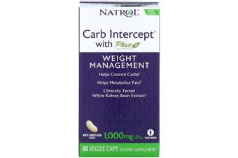 Natrol Carb Intercept with Phase 2 Carb Controller - 1,000 mg, 60 Veggie Caps