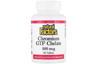 Natural Factors Chromium GTF Chelate - 500mcg, 90 Tablets