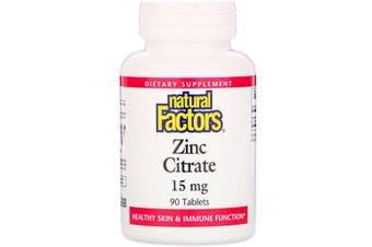 Natural Factors Zinc Citrate - 15mg, 90 Tablets