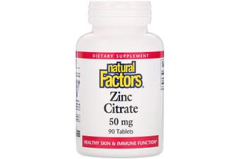 Natural Factors Zinc Citrate - 50mg, 90 Tablets