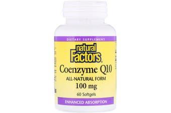 Natural Factors Coenzyme Q10 - 100mg, 60 Softgels
