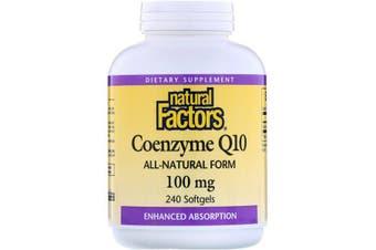 Natural Factors Coenzyme Q10 - 100mg, 240 Softgels