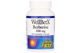 Natural Factors WellBetX Berberine 500mg, 60 Vegetarian Capsules