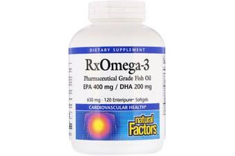 Natural Factors Rx Omega-3 120 Enteripure Softgels