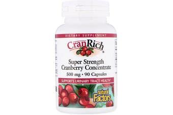 Natural Factors CranRich Super Strength Cranberry Concentrate - 500mg, 90 Capsules