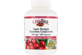 Natural Factors CranRich Super Strength Cranberry Concentrate - 500mg, 180 Capsules