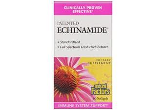 Natural Factors Patented Echinamide 60 Softgels