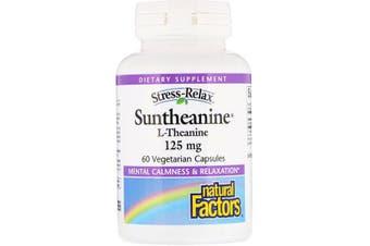 Natural Factors Stress-Relax Suntheanine L-Theanine - 125mg, 60 Vegetarian Capsules