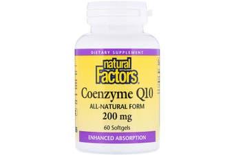 Natural Factors Coenzyme Q10 - 200mg, 60 Softgels