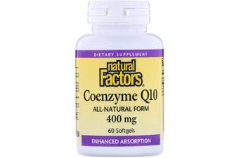 Natural Factors Coenzyme Q10 - 400mg, 60 Softgels