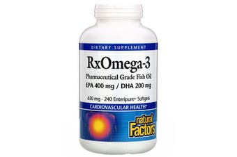 Natural Factors Rx Omega-3 Factors EPA 400 mg/DHA - 200mg, 240 Softgels